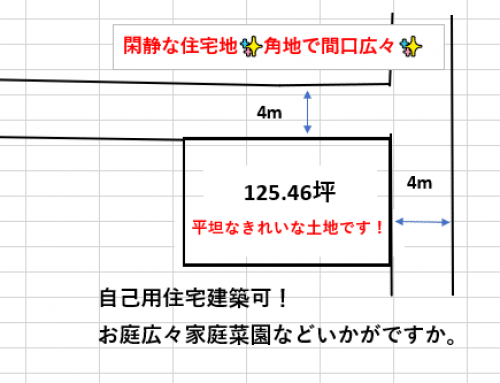 売地 糸満市北波平125.46坪 2,500万円(坪19.9万円)